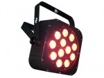 Light Emotion FLAT1212 LED Flat Wash Fixture 12x10W 6-in-1 LED RGBWAUV. Piggy back plug, double yoke.