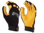Maxisafe GML158-10 G-Force Leather Glove with Leather Palm size L - Pair