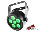Chauvet SLIMPART6U Slim Par 6x 3-in-1 3W TRI LEDs with USB D-Fi Compatibility